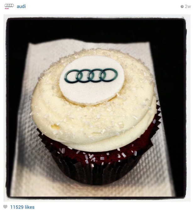 A screenshot of audi instagram page