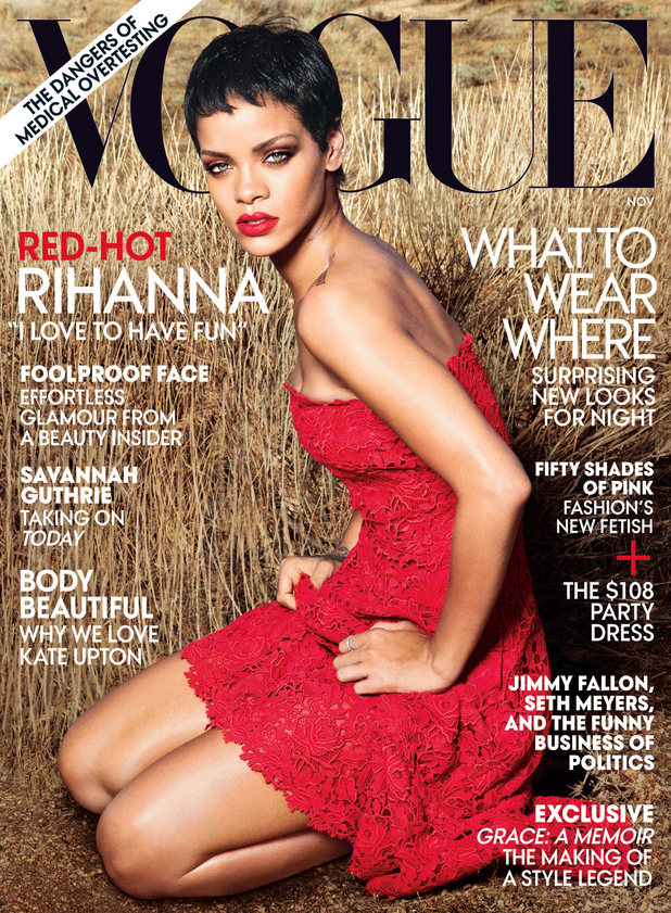 Rihanna photo shoot in the November issue of 'Vogue'