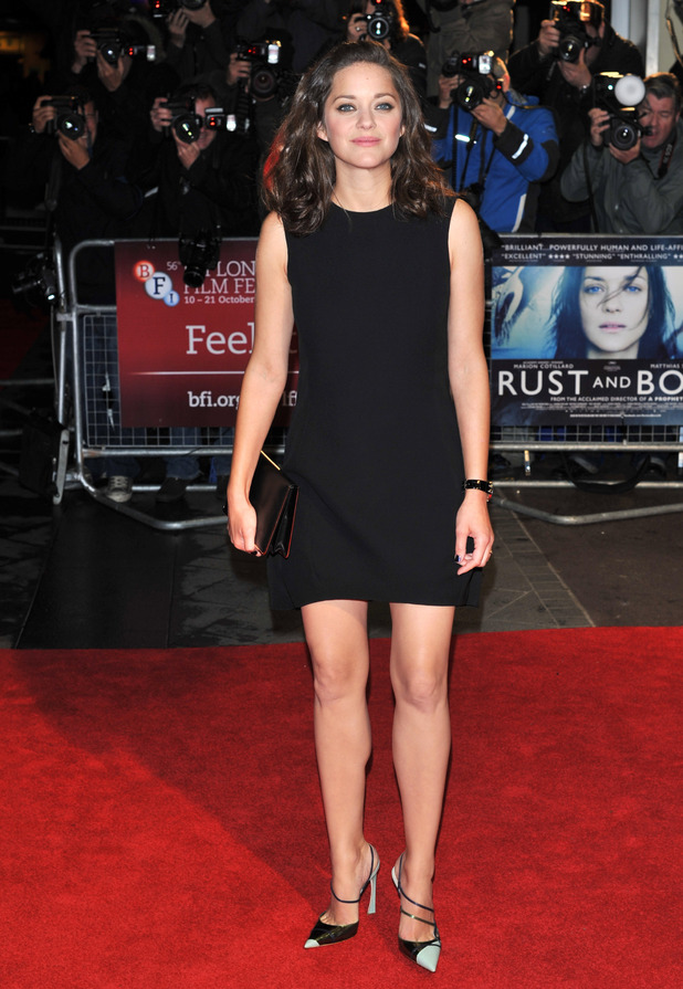 Marion Cotillard arriving at the screening of 'Rust and Bone' at Odeon West End as part of the 56th BFI London Film Festival