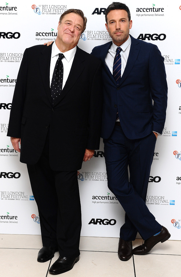 Ben Affleck and John Goodman arrives at the screening of new film Argo at the Odeon cinema in London (17/10/2012)