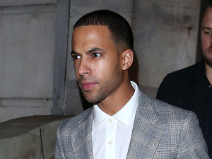Marvin Humes of JLS leaving Aura nightclub. London, England