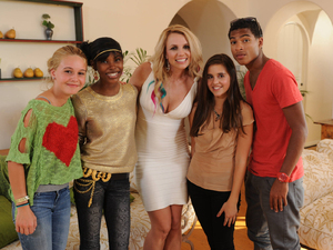 The X Factor USA: Britney Spears with the successful contestants in the teens category