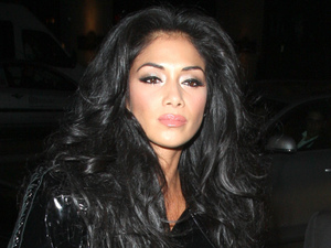 X Factor judge Nicole Scherzinger Arriving at Mahiki Club to celebrate Rylan Clark's birthday. London, England