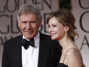 Harrison Ford and Calista Flockhart at the 2012 Golden Globes