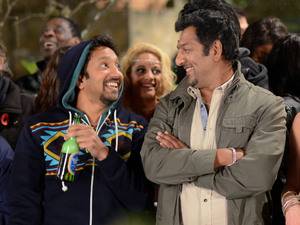 AJ cheers Masood up by arranging a fireworks party in The Square.
