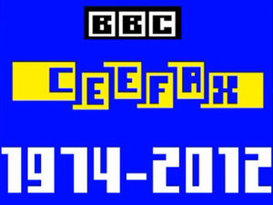 "The final Ceefax page ever reading ""1974 - 2012: Thanks for watching'"
