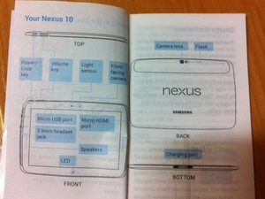 Nexus 10 leaked manual