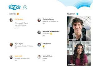Skype for Windows 8 - screenshot
