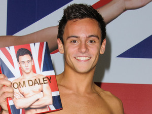 Tom Daley signs copies of his autobiography 'My Story' at Waterstone's London, England - 21.05.12 Mandatory Credit: WENN.com