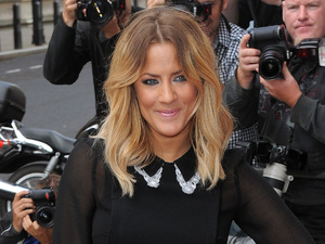 Caroline Flack arrives at the Corinthia Hotel for The X Factor press day.