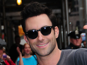 Adam Levine at the 'Late Show with David Letterman' studio in New York New York City, USA - 24.10.12 Mandatory Credit: Dan Jackman/WENN.com