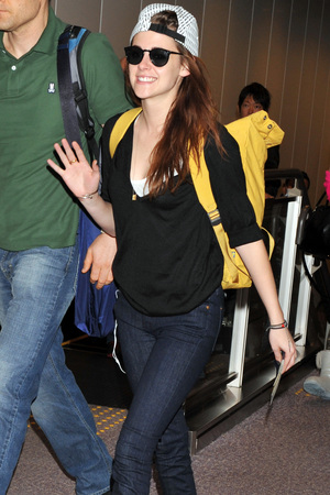 Kristen Stewart arrives at Narita International Airport Tokyo, Japan