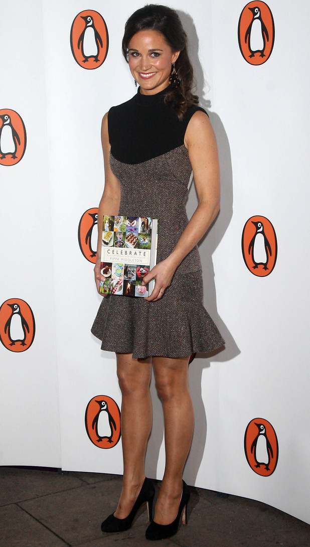 Pippa Middleton arrives for the launch party of her party-planning book, Celebrate, at Daunt Books in London.