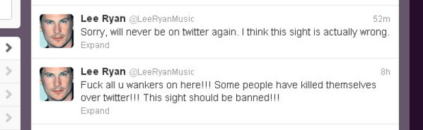 Lee Ryan Tweets