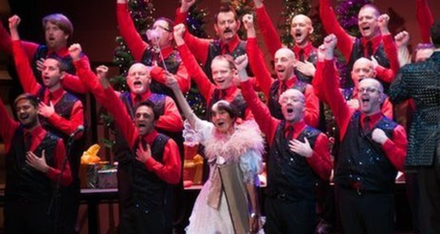 June Brown with the Brighton Gay Men's Chorus