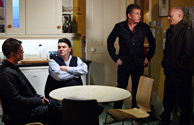 Alfie apologises to the lads for forgetting poker night.