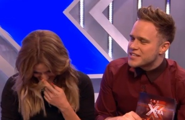 Caroline Flack and Olly Murs on The Xtra Factor 21.10.12