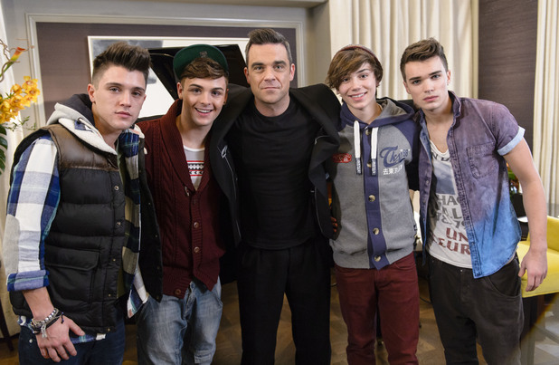Robbie Williams, Union J, X factor