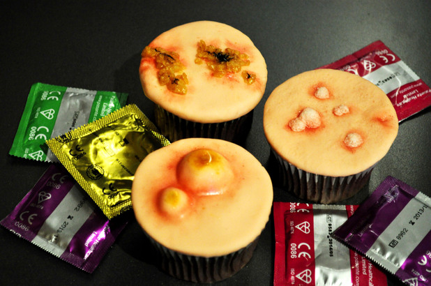 STD-themed cupcakes