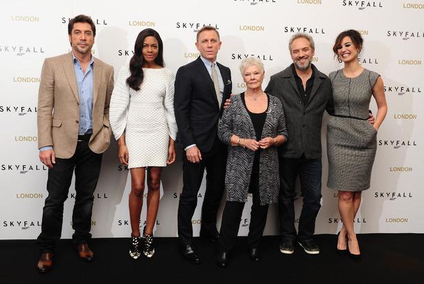 Javier Bardem, Naomie Harris, Daniel Craig, Dame Judi Dench, Sam Mendes and Berenice Malohe