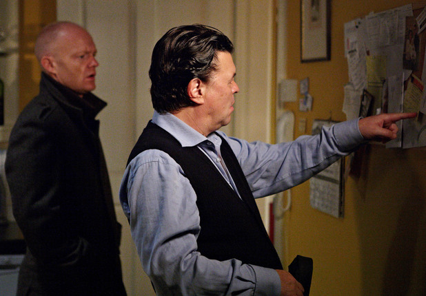 Derek spots a pawn broker receipt on the noticeboard for Kat's Mum's engagement ring.