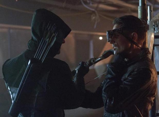 "'Arrow' (Season 1, Episode 3) - ""Lone Gunman"" Stephen Amell as Oliver Queen and Michael Rowe as Deadshot"