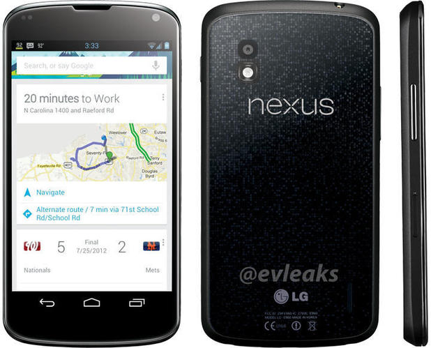 Leaked image of the LG Nexus 4