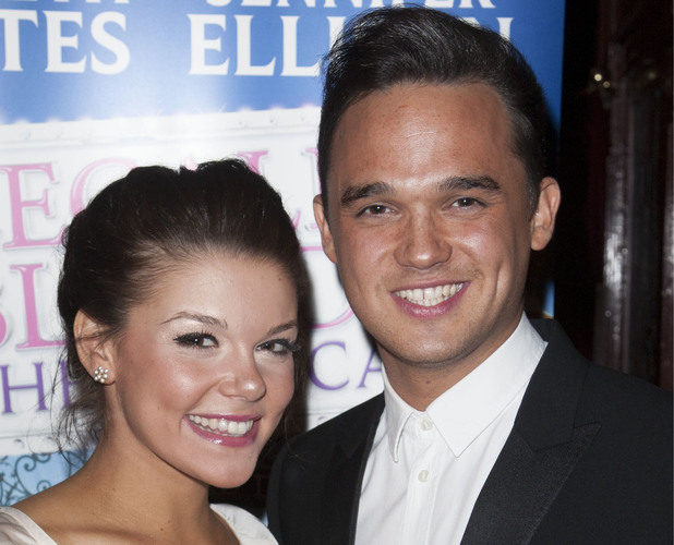 Gareth Gates with Legally Blonde co-star Faye Brookes