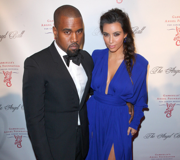 Kim Kardashian and Kanye West attend the Angel Ball 2012 at Cirpiani Wall Street New York City, USA