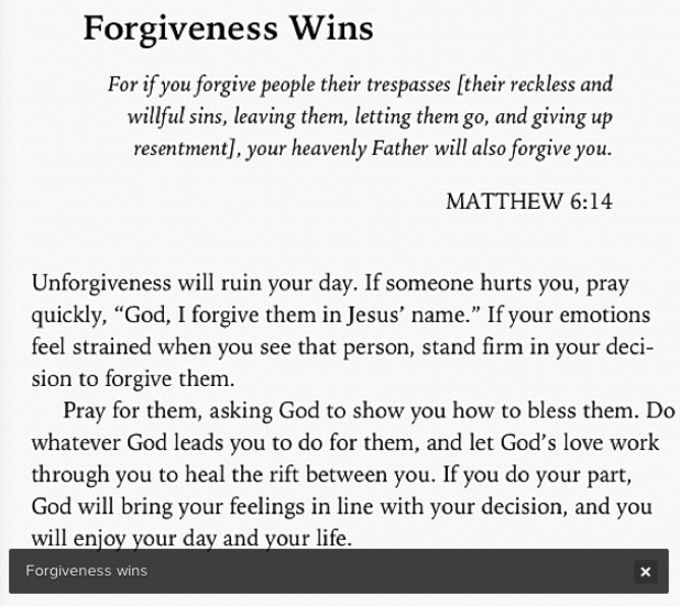 Rihanna's Instagram photo about forgiveness.