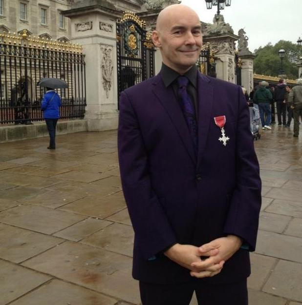 Grant Morrison with MBE