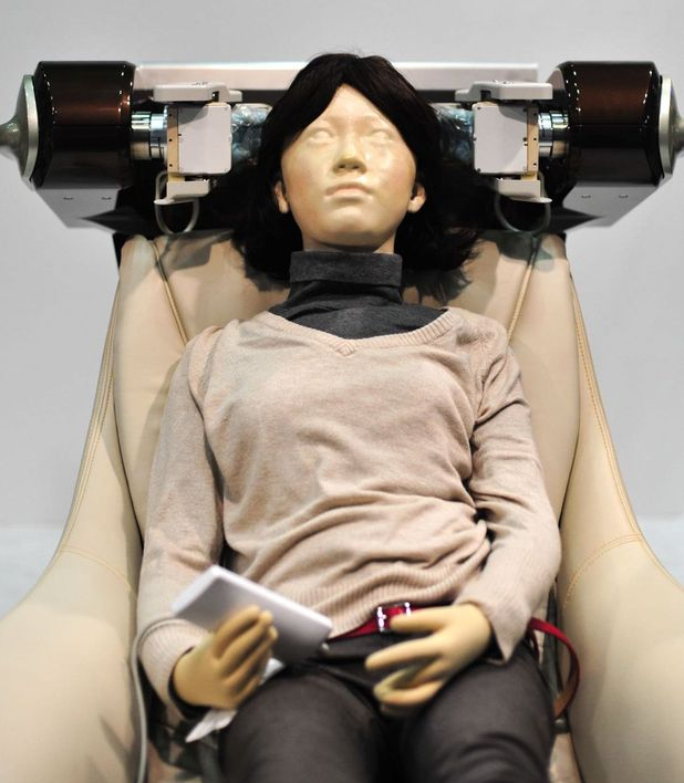 Head Care robot by Panasonic inc., which provides head massages