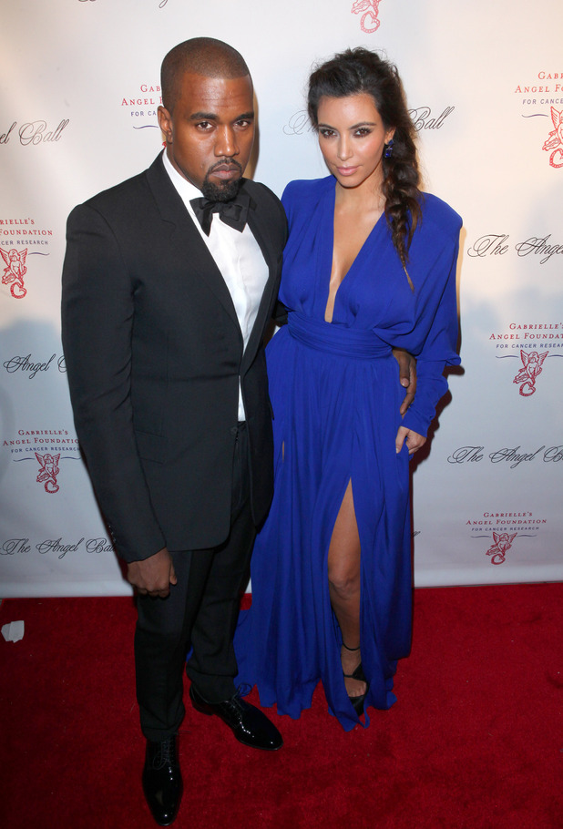 Kim Kardashian and Kanye West attend the Angel Ball 2012 at Cirpiani Wall Street