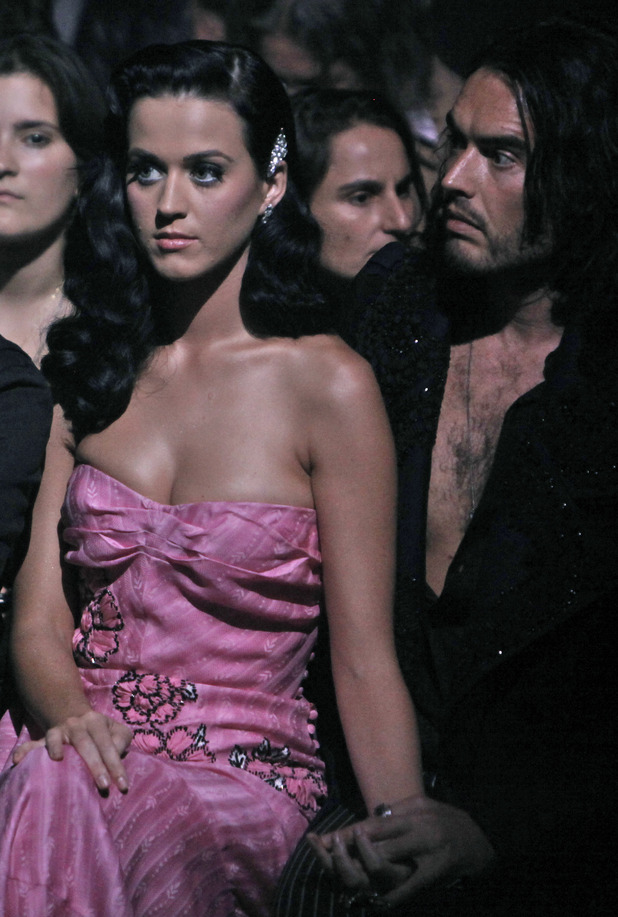 Katy Perry, Russell Brand attend John Galliano's Spring-Summer 2010 fashion collection
