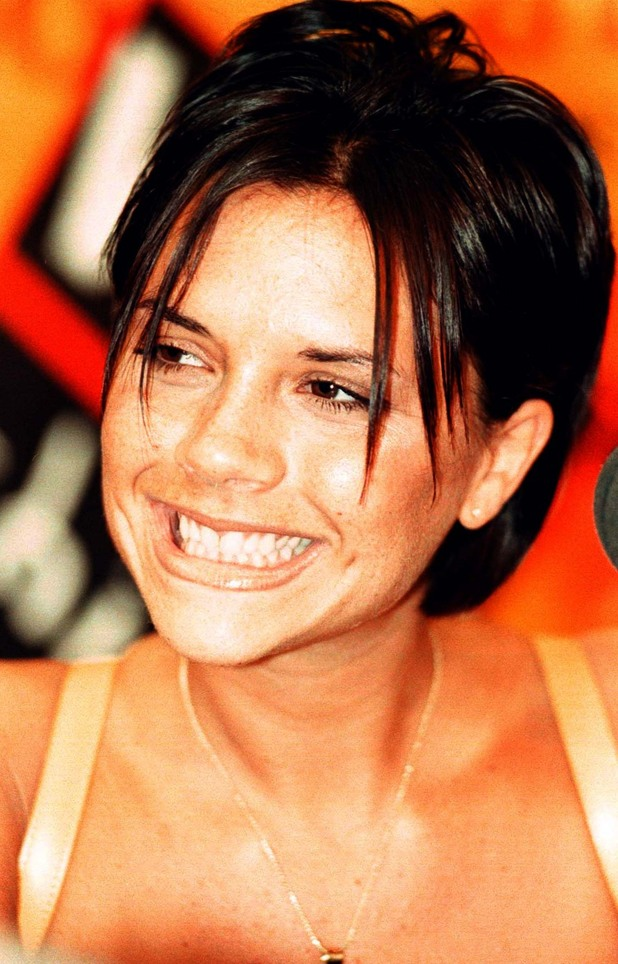 Victoria Beckham, at a press conference in Modena, Spice Girls