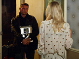 Christian arrives at Lucy's place - needing somewhere to stay.
