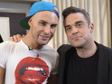 Robbie Williams stars as special guest mentor to X Factor finalists.