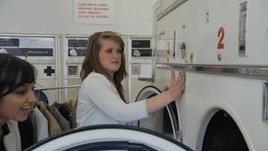 Young Apprentice series three - watch clip: The girls' team in a launderette
