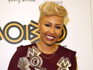 The MOBO Awards 2012: Emeli Sande holds her awards for Best Female Act, Best R&B/Soul Act and Best Album