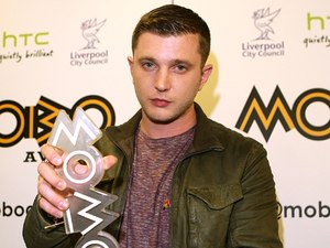The MOBO Awards 2012: Ben Drew aka Plan B with the award for Best Grime/Hip Hop Act.