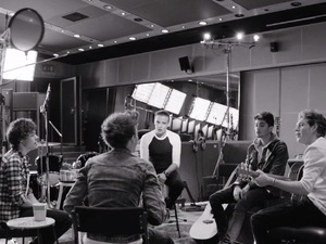 One Direction in 'Little Things' music video.