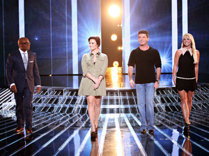 'The X Factor' USA TX Nov 1 - Judges LA Reid, Demi Lovato, Simon Cowell and Britney Spears