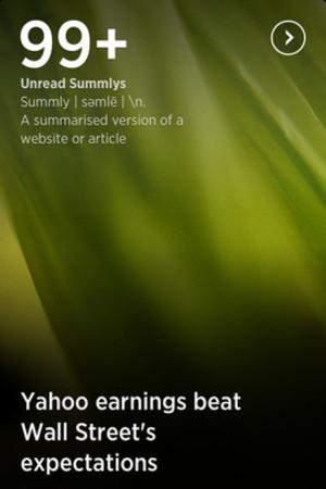 'Summly' screenshot