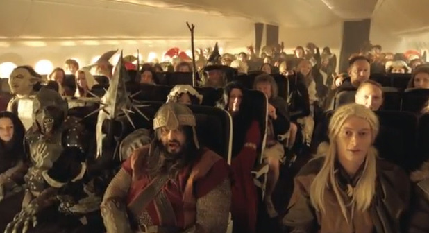 Air New Zealand 'Hobbit'-inspired in-flight safety video (still)