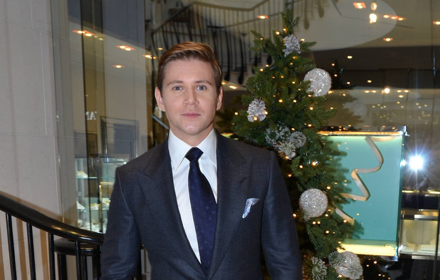 Allen Leech launches the Christmas season at Brown Thomas in Dublin.