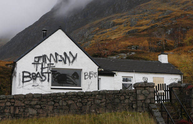 Jimmy Savile, Glen Coe, Scotland, cottage