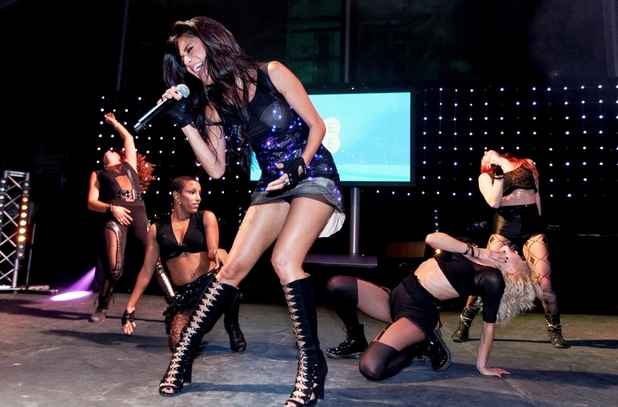 Nicole Scherzinger performed at the EE 4G launch event
