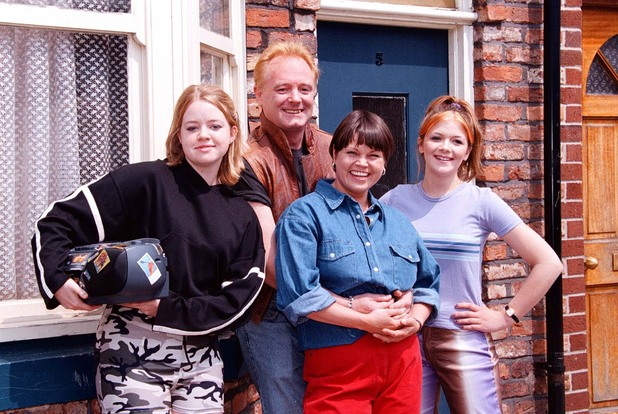 Coronation Street's Battersby family on their arrival in the soap - 1997