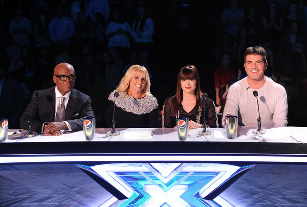 The X Factor USA judges LA Reid, Britney Spears, Demi Lovato and Simon Cowell