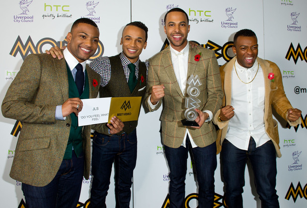 The MOBO Awards 2012: JLS with their award for Best Video.